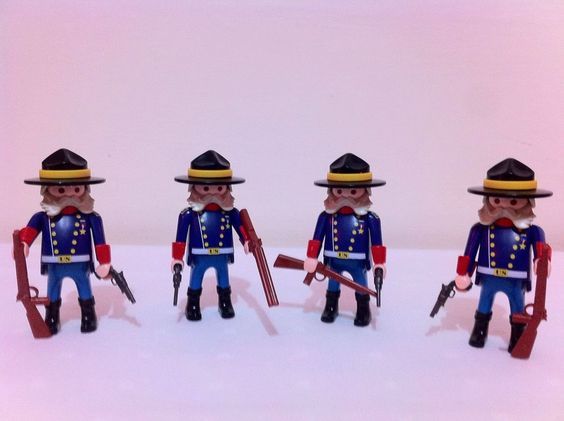 X4 New Playmobil #6273 Union General Soldiers Factory Sealed Figures Add On Lot #PLAYMOBIL