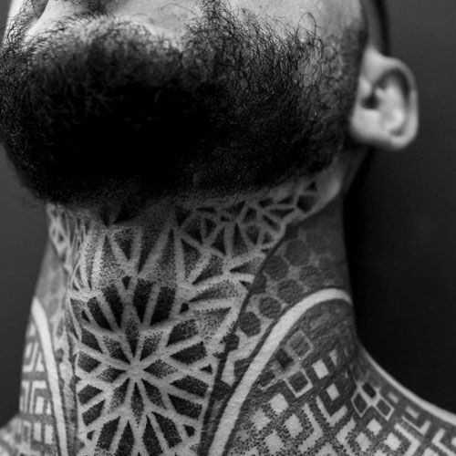 Beetletattoo Geometric Tattoo Neck Tattoo Black Tattoos Neo Traditional Tattoo