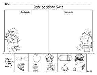 Back to school sort!