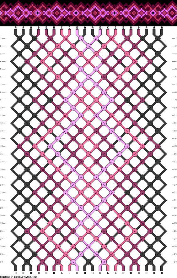 Muster # 42204, Streicher: 20 Zeilen: 30 Farben: 4