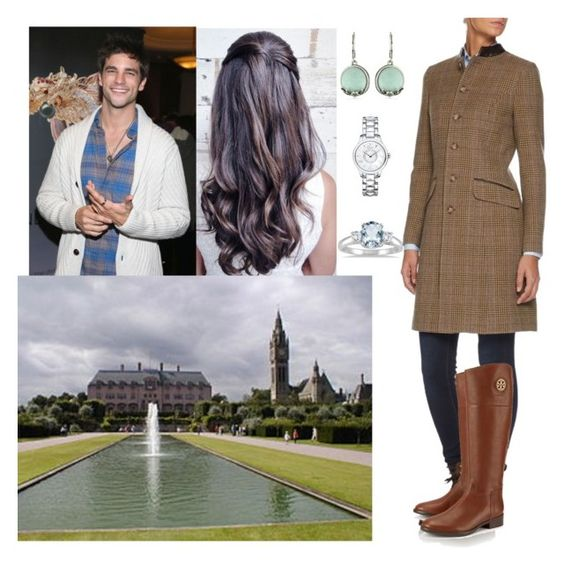 """""""Walking around of Eaton Hall with Hugh"""" by louiseofgermany ❤ liked on Polyvore featuring Christian Dior, Tory Burch, Vintage America and Marquee Jewels"""