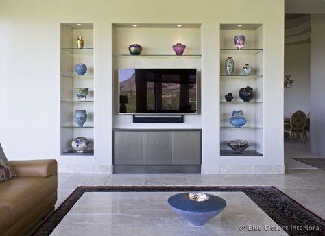 modern-custom-home-entertainment-center-drywall-lacquer ...