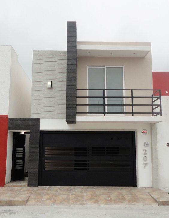 Fachadas De Casas Pequenas Con Porton Fachada De Casa Fachadas De Casas Modernas Fachada Casa Pequena