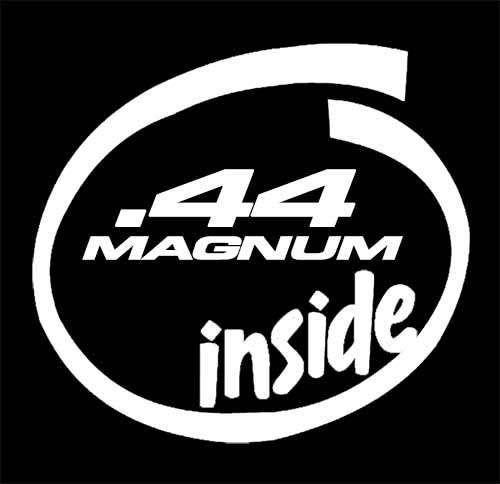 44 magnum inside Hunting Window Decal Sticker