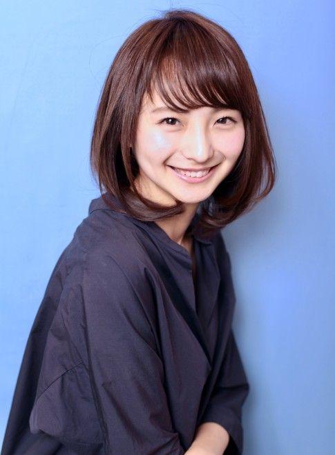 30、40代似合う髪型◎丸顔◎オフィス◎(髪型ミディアム)【2019