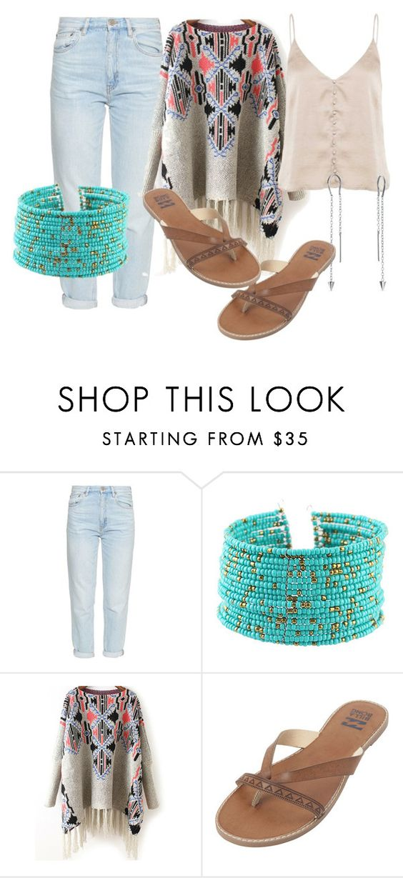 """Untitled #233"" by tanyakountz ❤ liked on Polyvore featuring M.i.h Jeans, Billabong and Bling Jewelry"