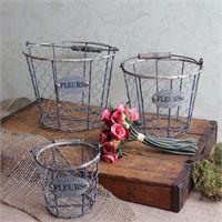 Chicken Wire Storage Baskets