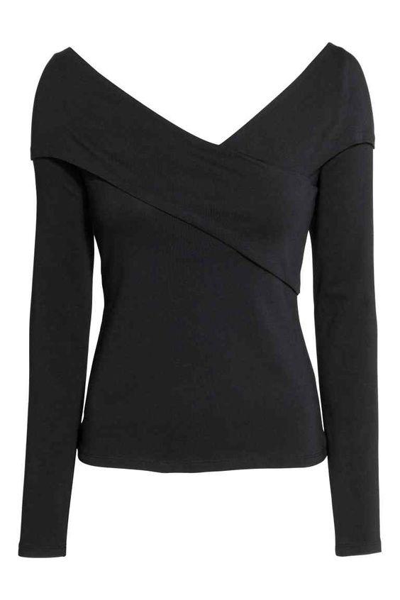 Camisola em jersey decote em V | H&M