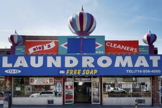 Queens - 172-12 Hillside Avenue. 'Laundromat' by the Snorri Bros., published by powerHouse Books