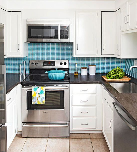 White kitchens pop of color and small white kitchens on for White kitchen cabinets what color backsplash
