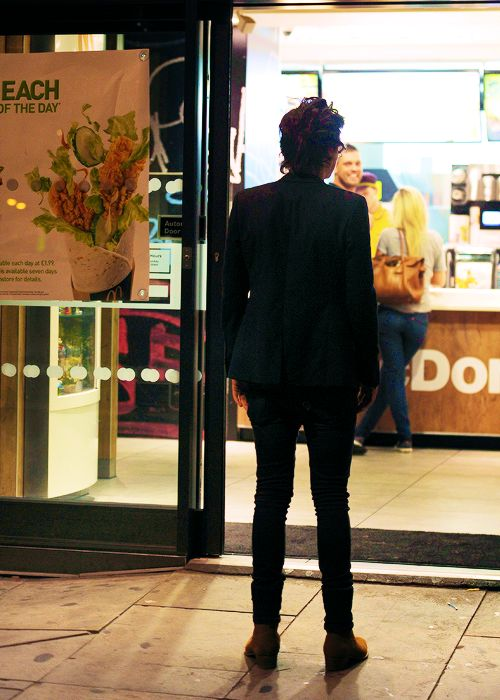 Walking out of the store and seeing this. I would just want to walk up to him and hug him.
