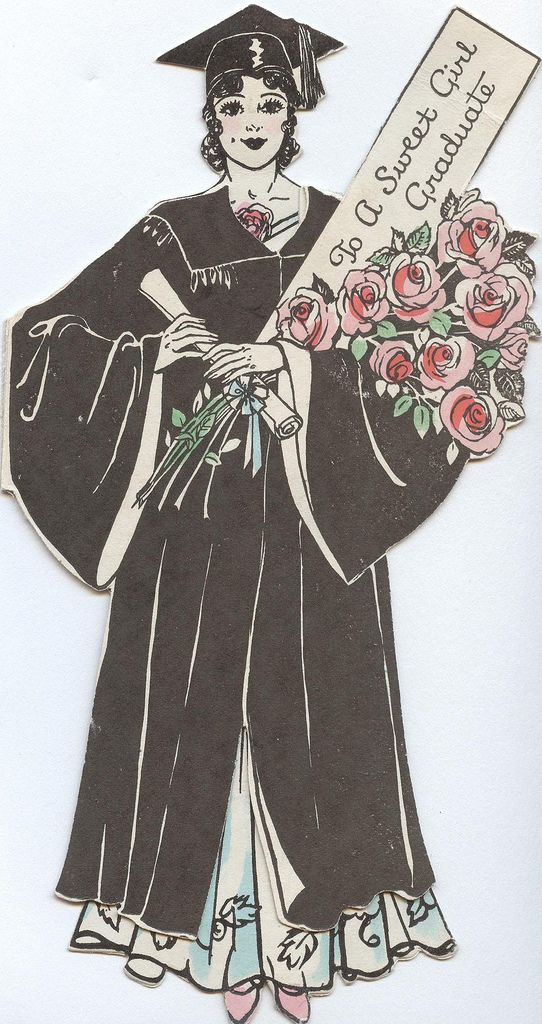 Vintage graduation card: