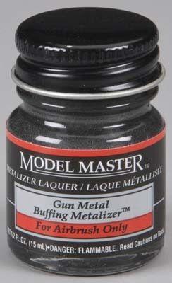 TES1405 - Model Master Gunmetal Buff Metallic 1/2 oz. Model Master Gunmetal Buff Metallic 1/2 oz