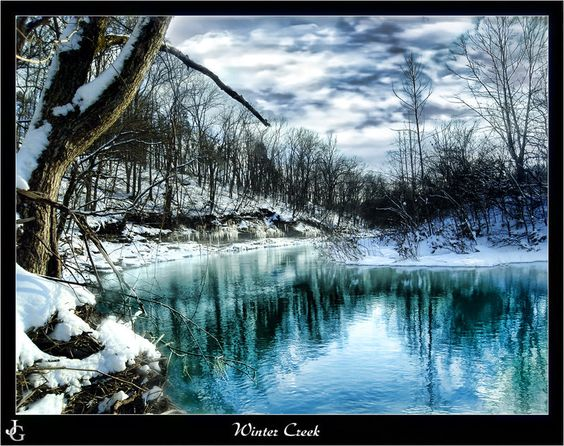 Winter Creek by JJames82789 on DeviantArt