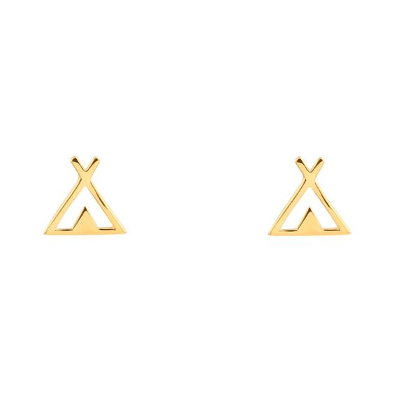 Midsummer Star - Tipi Stud Earrings - Gold