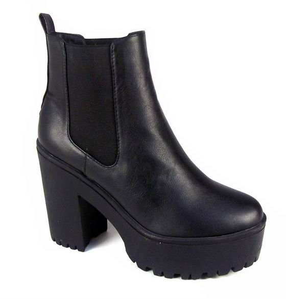 blaise black chunky cleated sole chelsea boots from bag envy boxingdaysales envy sale last