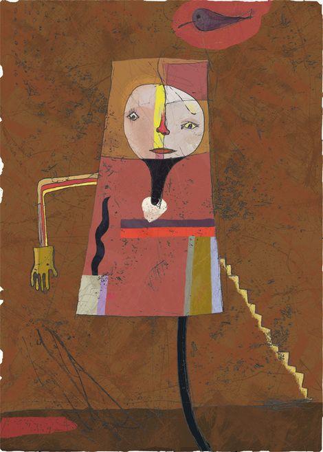 Toshihiko Okuya, scarecrow on ArtStack #toshihiko-okuya #art