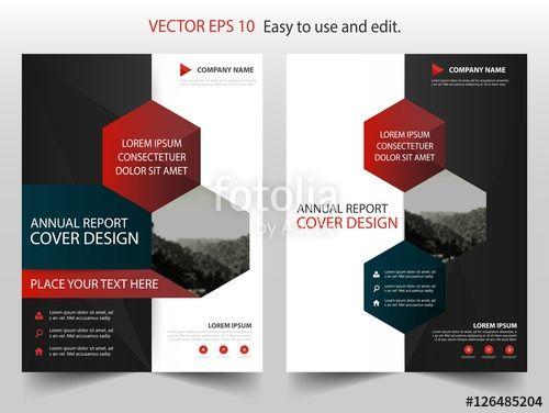Red Black Vector Business Proposal Leaflet Brochure Flyer Template Flyer Template Free Brochure Template Poster Template Design