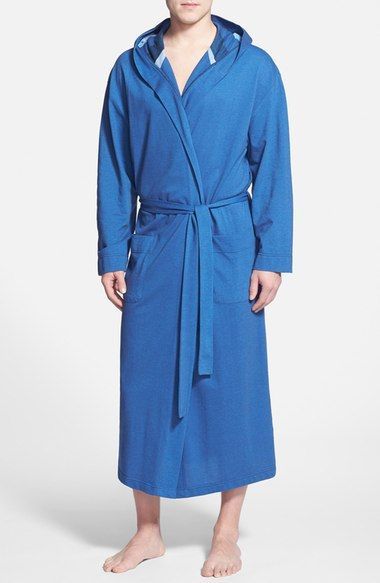 Majestic International Piqué Cotton Hooded Robe available at #Nordstrom
