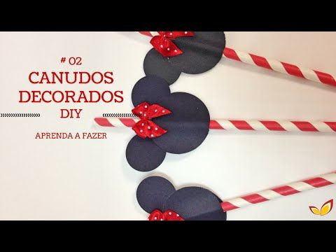 # 02 CANUDINHOS MINNIE VERMELHA l DIY JULIANA AYUMI - YouTube