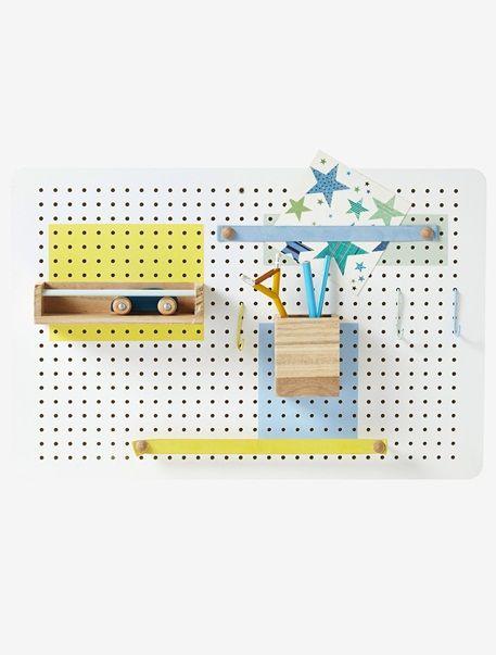 Kinderzimmer Pinnwand mit Zubehör WEIß