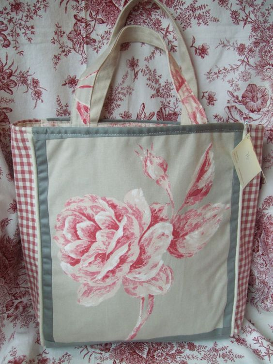 Hand Crafted French Fabric Market Tote