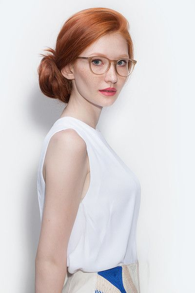Aura Matte Champagne Acetate Eyeglasses from EyeBuyDirect. A fashionable frame with great quality and an affordable price. Come see to discover your style.