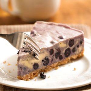 Blueberry Ice Cream Tart   Recipe   Cream, Blueberry pies ...