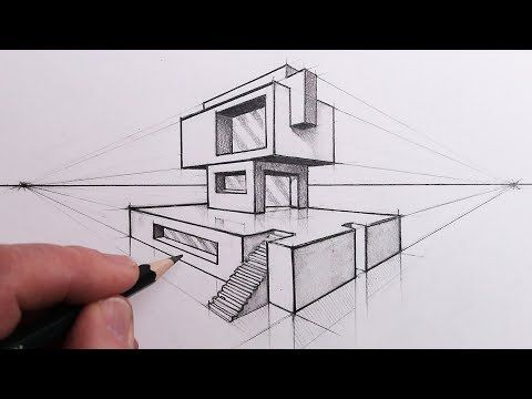 How To Draw A Building In 2 Point Perspective Step By Steps Youtube Perspective Drawing Perspective Drawing Architecture Perspective Drawing Lessons