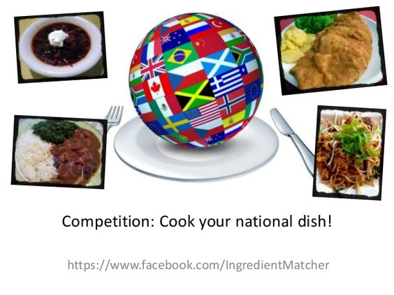 Can you cook your country's national dish? if yes the you need to visit this site for a chance to win big.