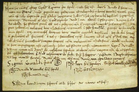 1167, maig 4. Establiment. Barcelona :: Pergamins (Biblioteca de Catalunya)