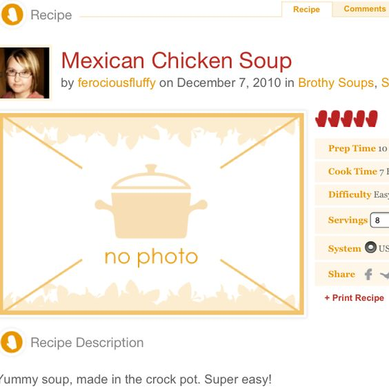 Chicken soup http://tastykitchen.com/recipes/soups/mexican-chicken-soup-4/
