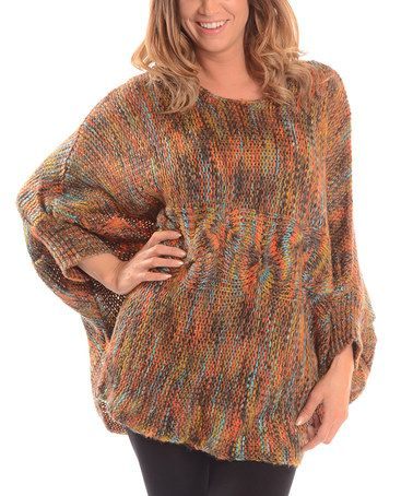 Another great find on #zulily! Brown Variegated Cable-Knit Dolman Sweater #zulilyfinds