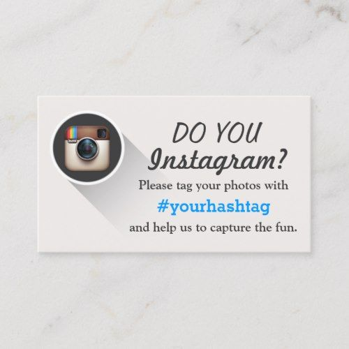 Tag Your Instagram Photos Hashtag Business Cards Zazzle Com Calling Cards Photo Business Cards Standard Business Card Size