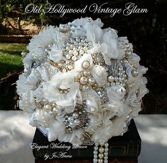 HOLLYWOOD GLAM BOUQUET Old Hollywood Style by Elegantweddingdecor, $400.00