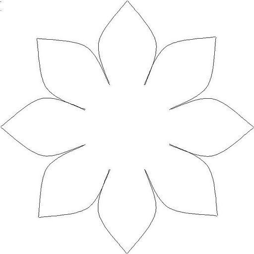 популярны цветы из цветной бумаги шаблоны взгляд