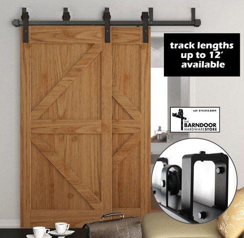 Double Track Bypass Sale Barn Door Hardware Kit For 2 Doors On