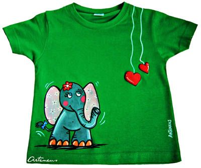 habitación infantil y camiseta elefantita arteneus