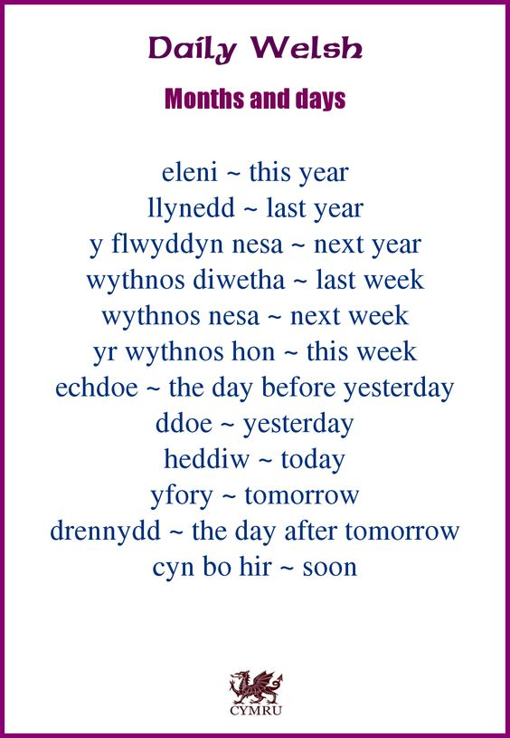 Daily Welsh: