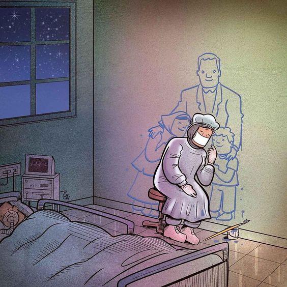 Homenaje en forma de ilustraciones a todos los que están velando por nosotros