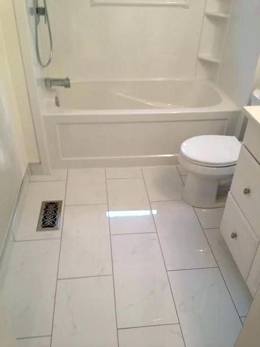 24 X 24 Large Tile Small Bathroom Floor Google Search Bathroom Floor Tile Small Small Bathroom Tiles Bathroom Flooring