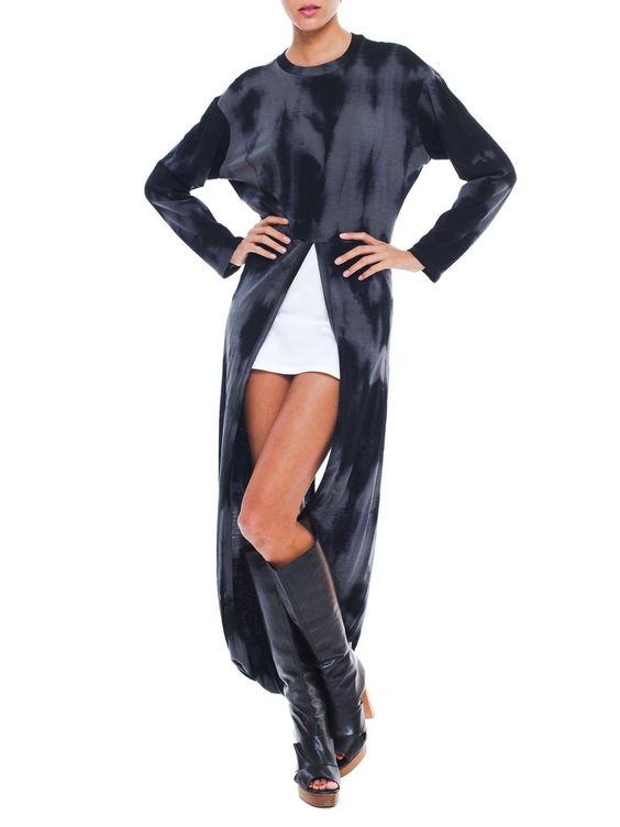 Versatile Black Dyed Vintage 1990'S Issey Miyake Dress
