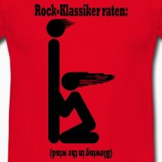 Ein Musikrätsel: Welcher Rock-Klassiker ist das ... Piktogramm von einem Blowjob, kniend mit wehenden Haaren. Antwort (auf dem Kopf stehend): Blowing in the wind. Schwarze Vektorgrafik, kann auf allen Farben ausser Schwarz verwendet werden.