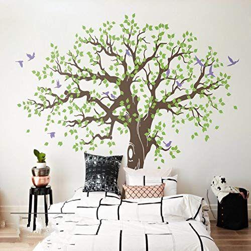 supmsds Arbre De Vie Famille Nature Style Stickers Muraux Design Unique Grand Arbre Peintures Murales Creative Home Decor Stickers Muraux LC M 56cm x 56cm