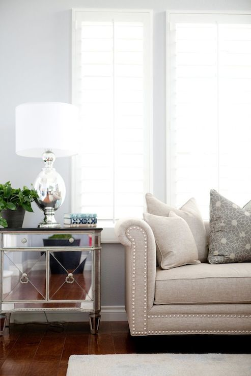 Belmont design group gorgeous living room with blue gray - Ivory painted living room furniture ...