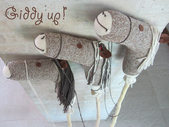 How to make a stick hobby horse - tutorial - perhaps not so much to be made with kids but maybe more made for kids