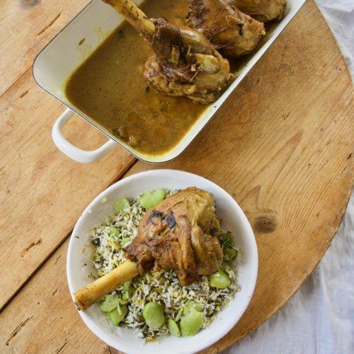 Baghali Polo Ba Mahiche Geschmorte Lammhaxen Mit Dillreis Und Dicke Bohnen Labsalliebe Rezept Persisches Essen Dicke Bohnen Persische Gerichte