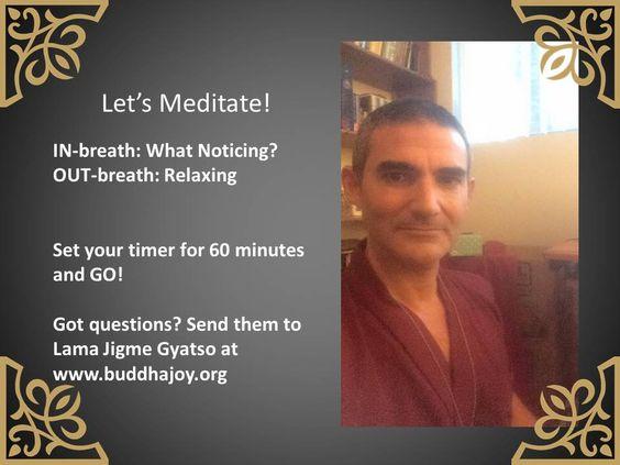 A simple meditation practice.