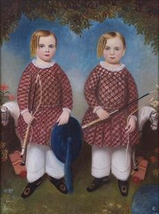 Moses B. Russell, The Wonson Twins, c. 1846. Oil on canvas. [Acc. #1994.81]: