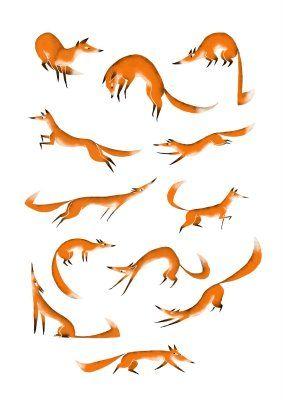 Foxes by Antonin Herveet via fish's aquarium (Les renards)